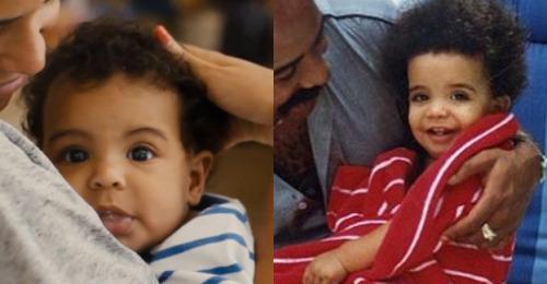 Blue Ivy looks like baby Drake.