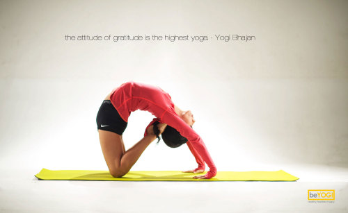 The attitude of gratitude is the highest yoga-Yogi Bhajan