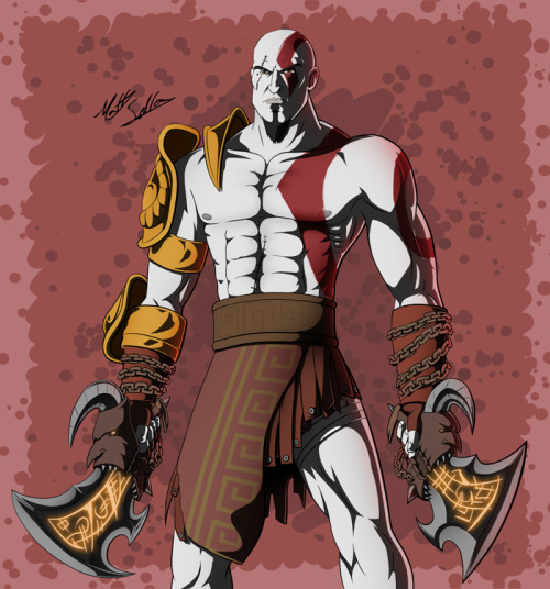 Kratos - PS All Stars by =Toonexterminator
