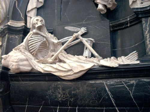 Figure of Death in the Cathedral of Fulda, Germany