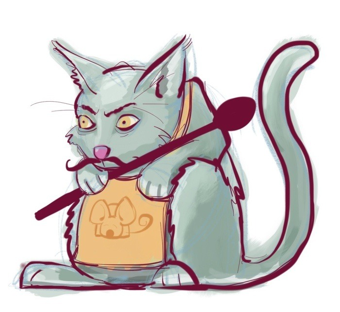 Slave-Driving Restaurant Owner Cat by Nate