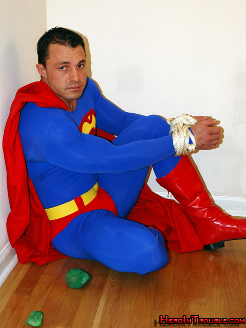 Superman tied, and lost his powers due to his weakness of Kryptonite.