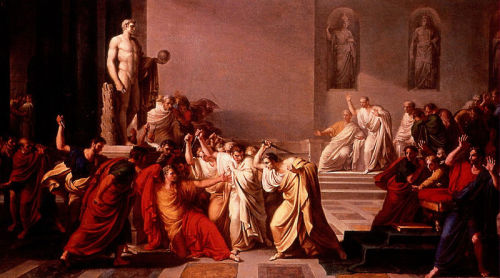 "vintageanchor:  ""Beware the Ides of March,"" the soothsayer urges Julius Caesar in Shakespeare's Tragedy of Julius Caesar (act I, scene ii). Despite the forewarning, Caesar is stabbed to death on this day in 44 BC. Caesar falls and utters his famous last words, ""Et tu, Brute?"""