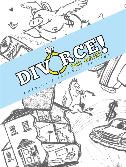 """Hey guys! My friends launched a Kickstarter with their very first game, Divorce! The Game. It's not as crazy as it sounds…it's a two player game where you just split up assets with the use of """"lawyer"""" cards and you are also trying to win over your children. Okay, maybe it does sound crazy. It's a lighthearted take on a terrible experience that I think many people would enjoy. Check it out and consider adding it to your collection!"""