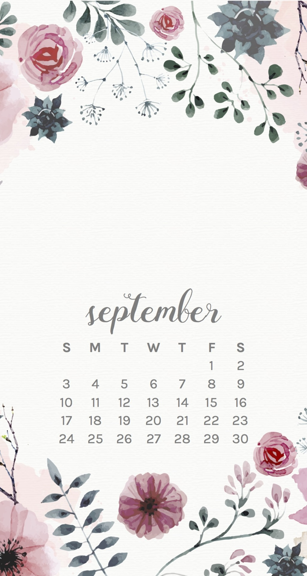September Floral Phone Wallpapers