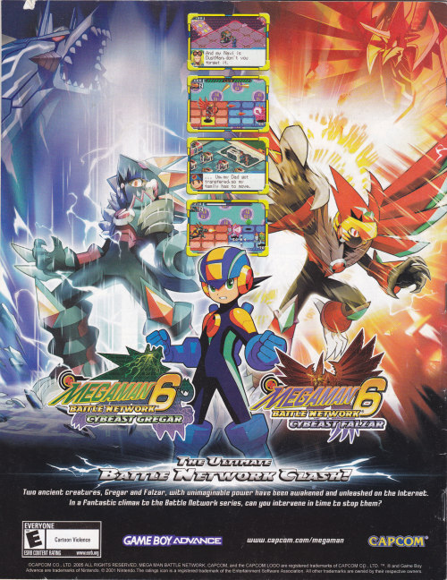 porygon-two:  Megaman Battle Network 6 - Magazine Advertisement
