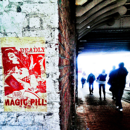 Trafalgar Street, Brighton - 20 March 2013 on Flickr.Deadly Magic Pill… …can I watch you shoot 'em up?Via Flickr: Trafalgar Street, Brighton Taken with iPhone / Instagram - 20 March 2013