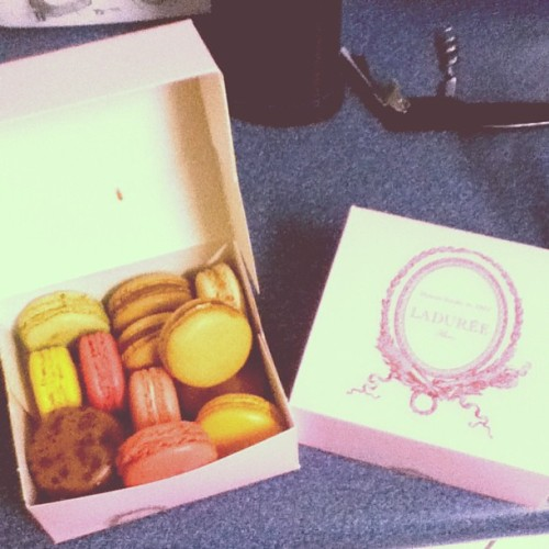 Sister brought back macaroon for me #macaroons #paris #france