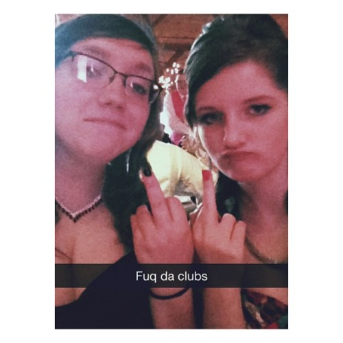 @teawithemily and I at prom. Suckas (at The Lodge)