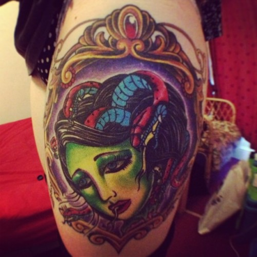 #trad #medusa #tattoo