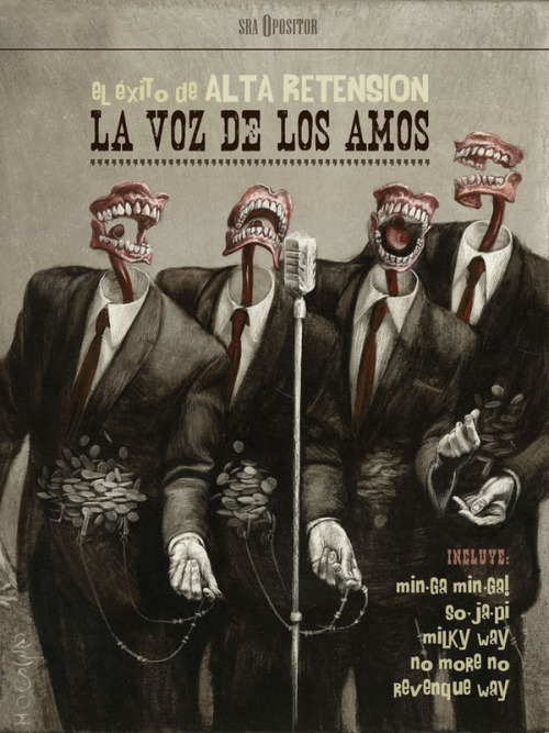 canvas-surreal:  La Voz de los Amos by Santiago Caruso