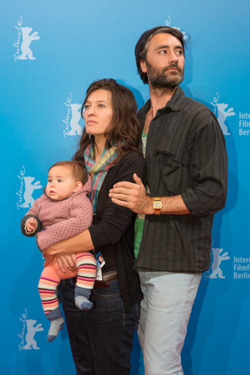 Taika Waititi, Chelsey Winstanley, and Te Hinekaahu  at Special Section NATIVe, part of the 2013 Berlinale