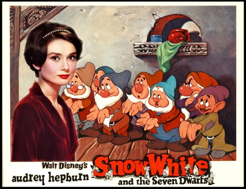 Audrey Hepburn in Snow White and the Seven Dwarfs. OMG!