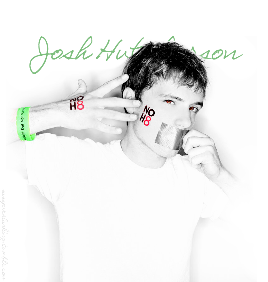 Josh Hutcherson for NOH8 and SBNN (x)