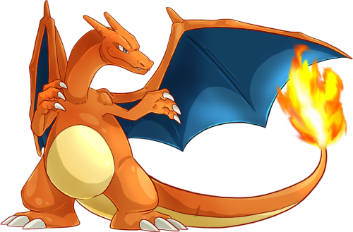 Charizard, done in photoshop in 1,5 h :)