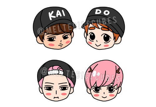Hunhan and Kaisoo double sided cellphone Earcaps preview~ Earcaps plug into any headphone jack and these are double sided, meaning Kai is on one side and Kyungsoo on the other, and same with Hunhan! I'm getting these made but not sure how many to make, so if you're interested in purchasing one ($5 each) please leave a comment! Oh also specify if you want both or just Kaisoo/Hunhan!?