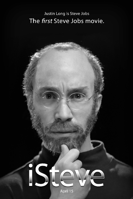 "Funny Or Die Makes a Steve Jobs Movie (Really) We made a movie! ""iSteve"" stars Justin Long and will be the world's FIRST Steve Jobs biopic, on April 15. Read all about it!"