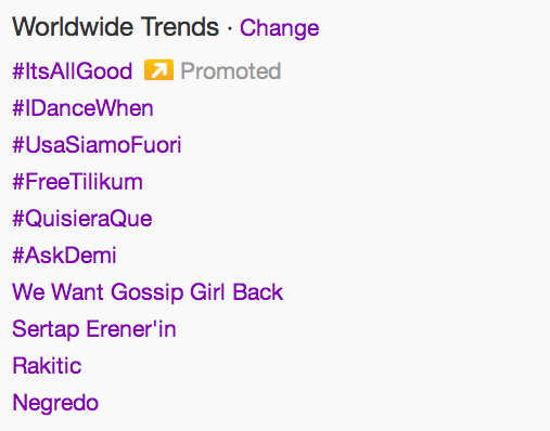 danandserena:  We Want Gossip Girl Back - trending worldwide, 4/12/2013