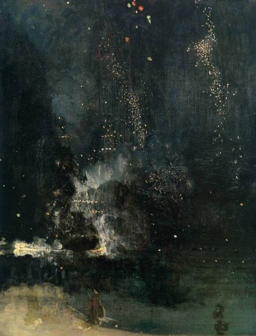 ryandonato:  James Abbott McNeill Whistler, Nocturne in Black and Gold: The Falling Rocket (1875)