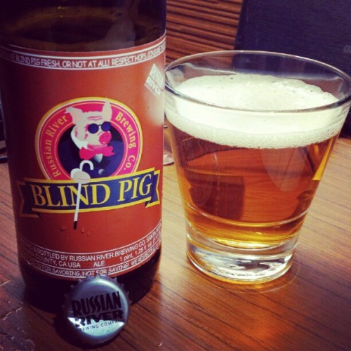 Russian River Blind Pig IPA. Bottled yesterday. #HotelBeer