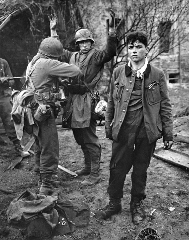 demons:  POWs being searched in Koblenz, Germany