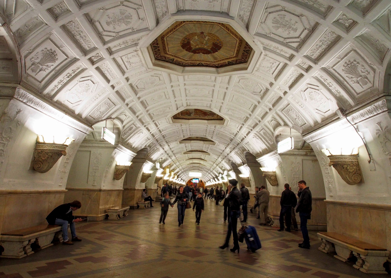 """jackviolet:  One of the things that is really notable about Moscow and yet not many people outside Russia know about, is how gorgeous the Moscow metro is. These photos? That's what the metro stations look like. Yeah. They're called the """"People's palaces of Moscow"""" or else """"Underground palaces,"""" and they were built during the Soviet era on the Communist idea that art and beauty should belong to the people rather than only being available in the houses of nobles. These photos show just some of the metro's attractions. There are many more mosaics, statues, etc, placed throughout. And the metro is always this clean. In addition to being beautiful, it is incredibly functional. It gets you pretty much everywhere in Moscow, and the trains run at intervals of every three minutes or less. At peak times, they run every 90 seconds. You never have to worry about missing a train, because the next one will come almost immediately. Not always of course. In the late evening or early morning hours, you may have to wait as long as five whole minutes for a train. They're also super easy to navigate. We Russians are pretty proud of our metro system."""