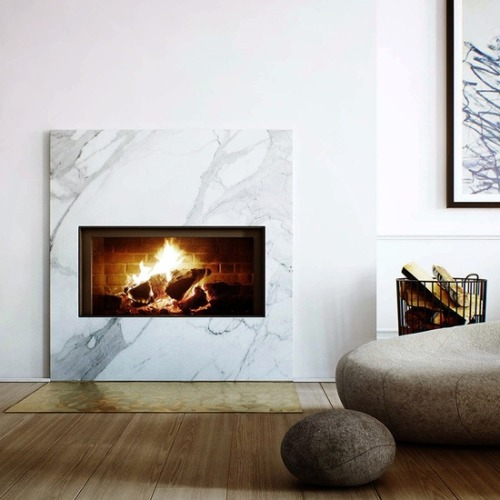 fire place + marble surround