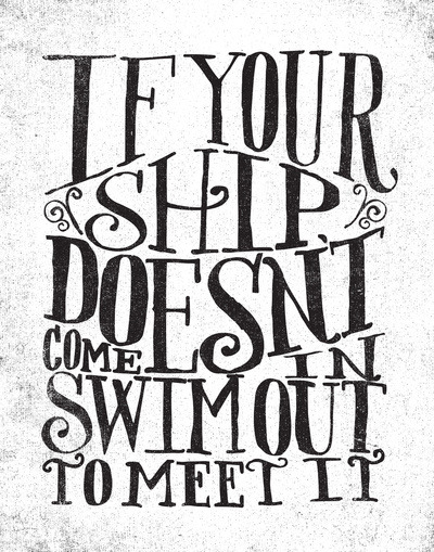 (via IF YOUR SHIP DOESN'T COME IN… Art Print by Matthew Taylor Wilson | Society6)
