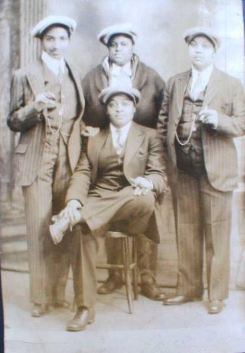 "oshun67:  Black Lesbians from the 1930s. This ain't nothing new!I had an aunt who dressed like these ladies and she identified herself as a ""stud"" , a word used in the lesbian community to identify a level of masculinity. My aunt had to endure sexism, racism and scrutiny more than I can imagine. She was ""out"" during the 50s and 60s, waaaay before the famous LGBT Stonewall riots that took place in NYC."