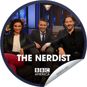 "I just unlocked the The Nerdist: Joe Manganiello & Morena Baccarin sticker on GetGlue                      3133 others have also unlocked the The Nerdist: Joe Manganiello & Morena Baccarin sticker on GetGlue.com                  You're watching an all new episode of The Nerdist, presented by Supernatural Saturday, only on BBC America. Tonight, it's True Blood star Joe Manganiello, plus the lovely Morena Baccarin from Homeland and Firefly. Plus: we play ""Obscure Comic Book Character, German Restaurant, or Dinosaur?,"" Torchwood & Arrow star John Barrowman heads to Meltdown Comics, and well-dressed comedian Paul F. Thomkins spins some yarns. Share this one proudly. It's from our friends at BBC America."