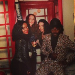 fuckyeahsugababes:  @keisha_buchanan Throw back pic. Photoshoot in a phone booth haha #LA #Topshoplaunch @devhynes #mutyakeishasiobhan http://instagr.am/p/XHYGijBd_a/