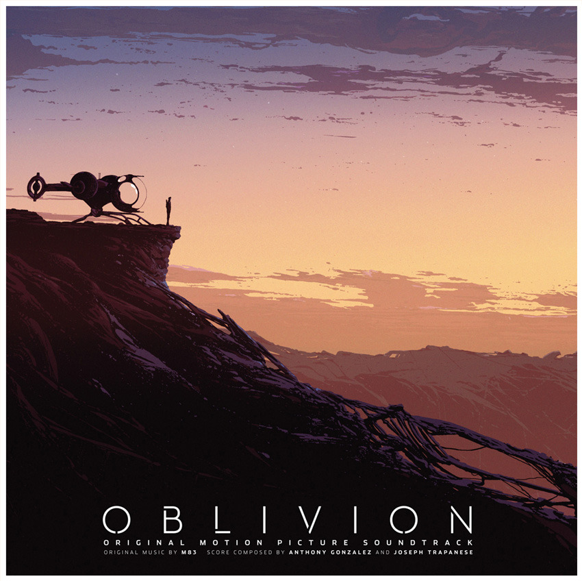 dwdesign:  Cover artwork for the new Sci-fi film Oblivion's soundtrack with music composed by M83 . Soon to be released on vinyl by Mondo.