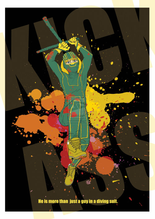 fuckyeahmovieposters:  Kick-Ass by Jonn Dante Raindo