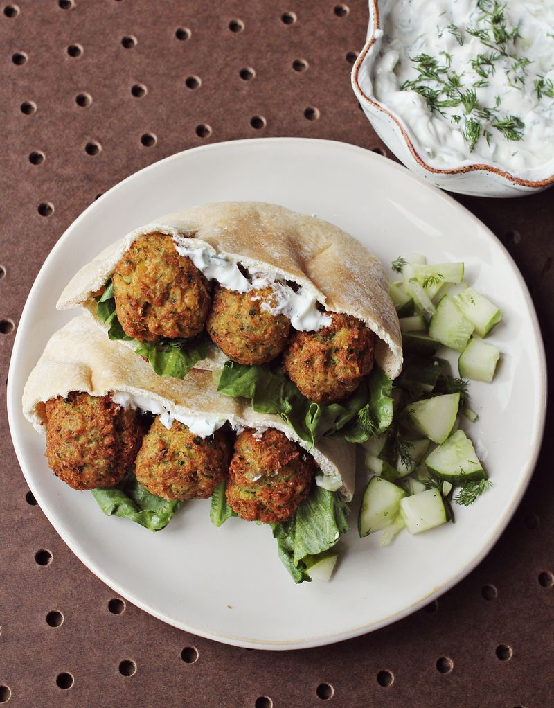 Homemade Falafel Cucumber Dressing