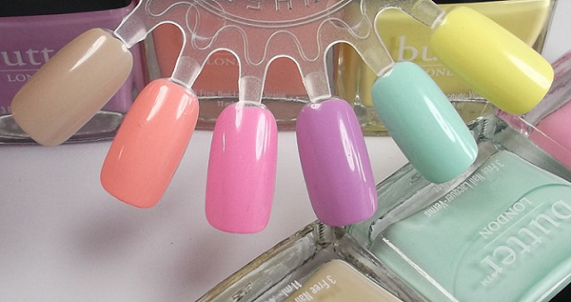 Butter London Cuppa, Kerfuffle, Fruit Machine, Molly Coddled, Fiver, Jasper