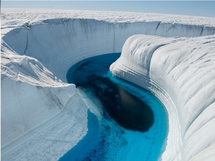 Wanderlust. Ice Canyon. Greenland. via NatGeo.