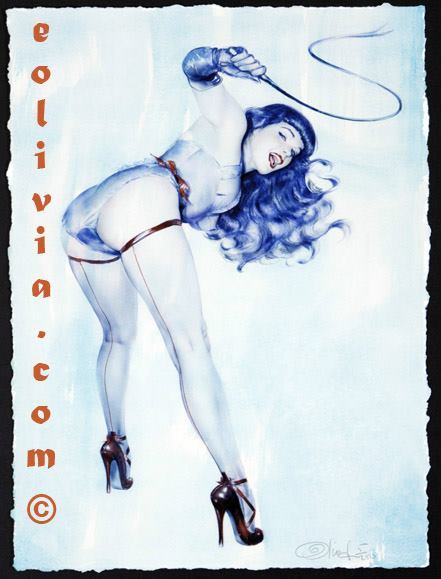 Bettie Page with Whip by: Olivia De Berardinis