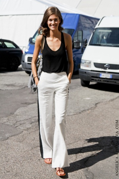 wide white pants for spring