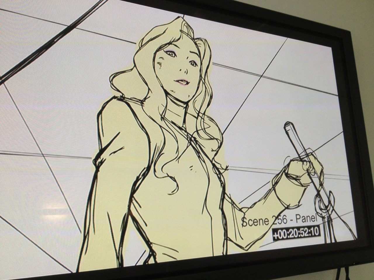 Awesome storyboard drawing of Asami by (awesome as usual) Ryu Ki Hyun from a Book 3 animatic.