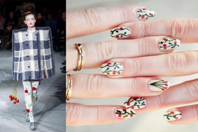 (via moveSlightly: Thom Browne Fall 2013 #NYFW Nail Art)