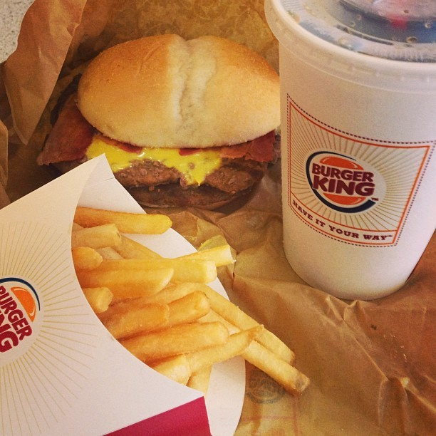 Double Bacon Angus Meal for brunch! #burger #burgerking #brunch #food #fastfood #good #savory #instagram #instalike #instafood #instagood #igersasia #igersmanila