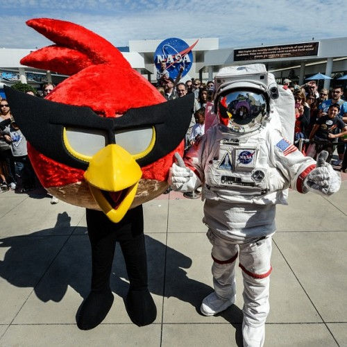 crookedindifference:  NASA Kennedy Space Center and Angry Birds