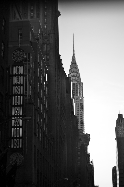 The Chrysler Building and Benjamin.