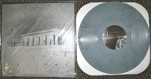 "Locrian - ""Greyfield Shrines"" (Diophantine Discs 2008) I forgot I even had this record, I bought it during the flurry of record purchasing that was A389's 9th anniversary bash weekend and just threw it into the to be listened to pile.  This morning I happened upon it and realized it was in the mood for some black drone soundscapes, and hooo boy, this is hitting the spot right now.  Basically this is one track spread out across two sides of this 12"", and its a spastic meditation of frenzied, delay-soaked guitar freakouts, and lush, thick droning synths.  The two play off each other like they aren't in the same room, but at the same time it all works.  I'm pretty sure this is almost totally improvised, but it has a feeling of weeks of preparation.  I'm in love with this right now.  -Log."