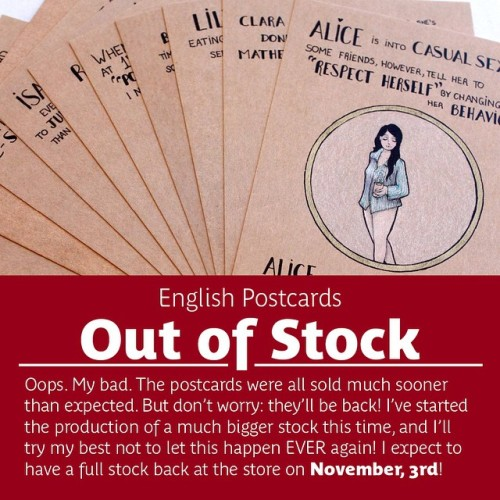 Sorry about that! Soon things will get back to normal! #stock