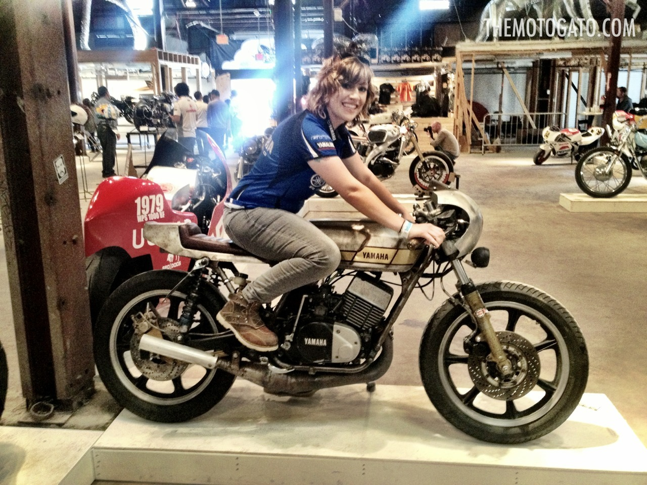 Gato at The 1 Motorcycle Show with her RD400