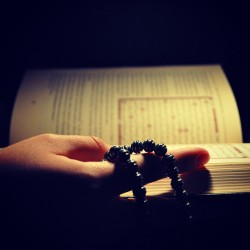 Maybe the best pic I ever took :) @sarahabass holding the #Quran .. @arshub_j helped with the lights (^_^)