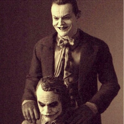 sebz414:  Sharing Demons. #livebetter #film #art #cinema #cinemagram #joker #heathledger #jacknicholson #batman #nolan #evil #chaos #insanity #monday