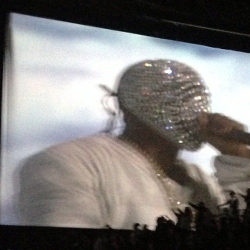 officialstyledotcom:  Kanye West in his @maisonmargiela Artisanal mask. #pfw NP