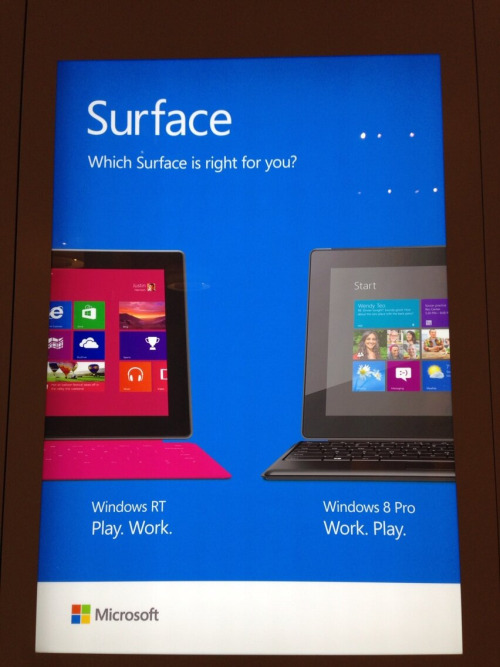 Will Surface compete vs the Ipad? I think with Windows 8 is'nt possible